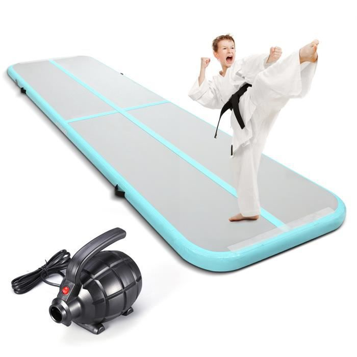 KUOKEL Rouleau Gymnastique Tapis Gonflable Yoga/fitness/body Shaping - PVC - Blue Claire