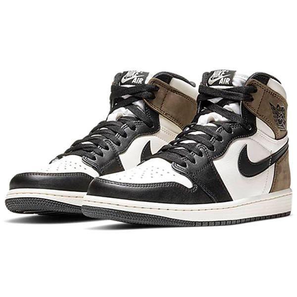 Air Jordans 1 Retro High OG -Dark Mocha- Chaussures de Course pour Femme Homme Noir Marron