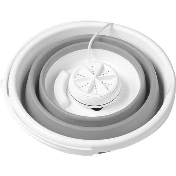 10L Mini machine à laver à tambour électrique Cavitation ultrasonique haute fréquence Gris