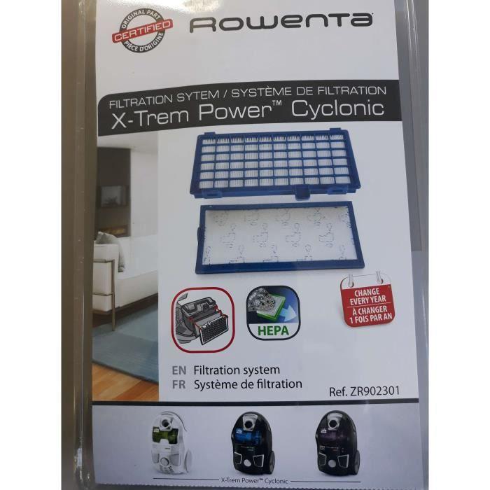 FILTRE.HEPA+FILTRE/MOUSSE X-TREM POWER CYCLONIC ZR902301 ROWENTA