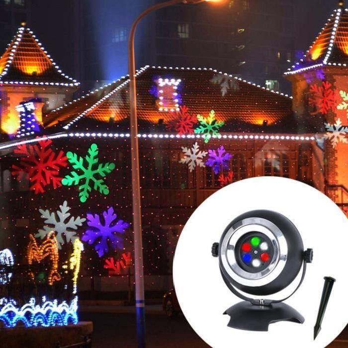 LED Projection Feux de flocon de neige Paysage Jardin Décoration Lampe de projection