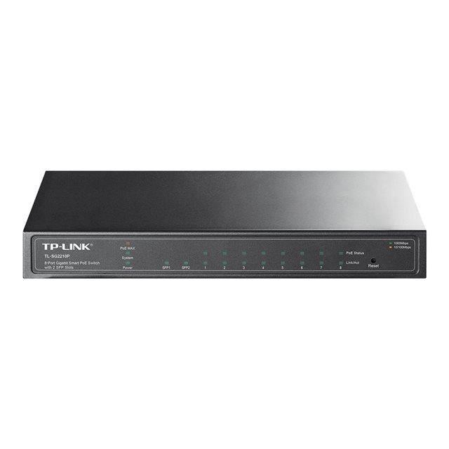 TP-LINK - Switch 8 Port Smart PoE - Avec 2 SFP ports