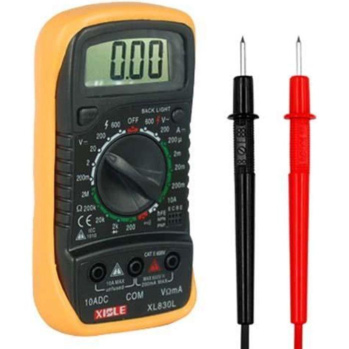 TRIXES Multimètre numérique, voltmètre ampèremètre CA CC ohmmètre connectivité 19 gammes
