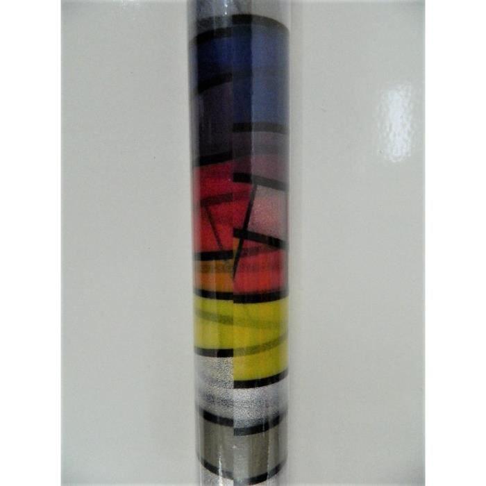 Film adhésif décoration vitrail 1,50m x 45cm décoratif vitrail