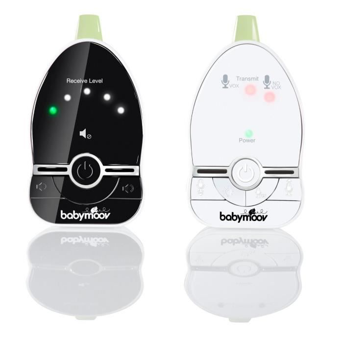 Babymoov Premium Care Babyphone Audio avec Talkie Walkie Temperature VOX et Veilleuse Port/ée 1400 m