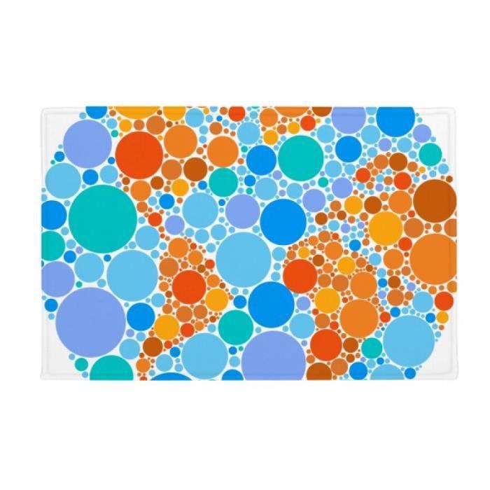 bleu orange carte mondiale de la terre tapis tapis antidérapant toilettes  salon cuisine 16\