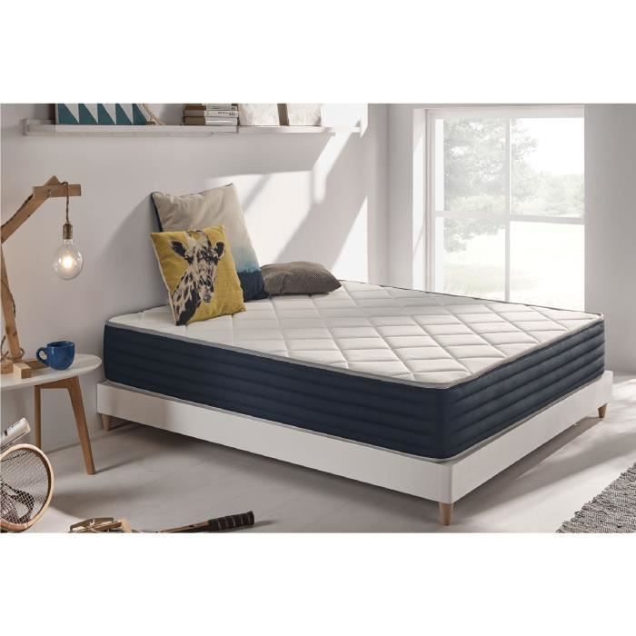 matelas aura 140x200 cm 2 faces m moire blue latex 25 cm 7 zones naturalex achat vente. Black Bedroom Furniture Sets. Home Design Ideas