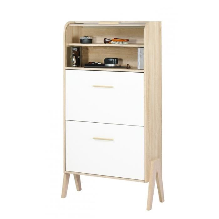 meuble chaussures vintage rideau ch ne portes couleur coloris des portes et tiroirs blanc. Black Bedroom Furniture Sets. Home Design Ideas