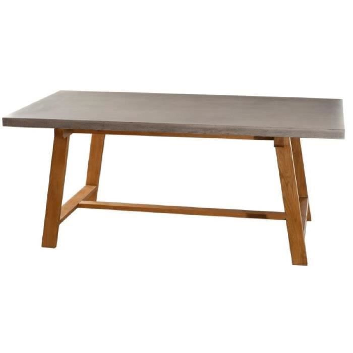 Table manger rectangulaire 180 x 90 cm atylia achat for Table a manger rectangulaire