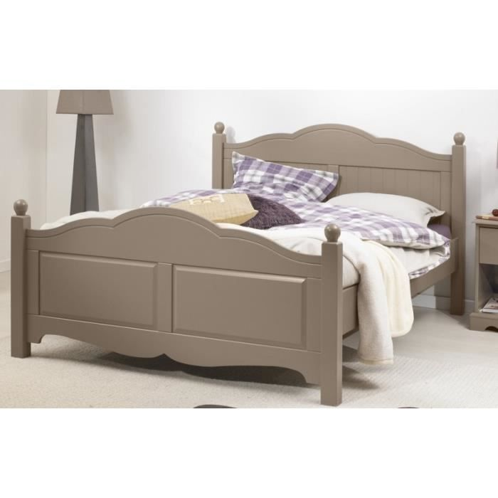 lit taupe 2 places 140x190 sommier matelas achat vente. Black Bedroom Furniture Sets. Home Design Ideas