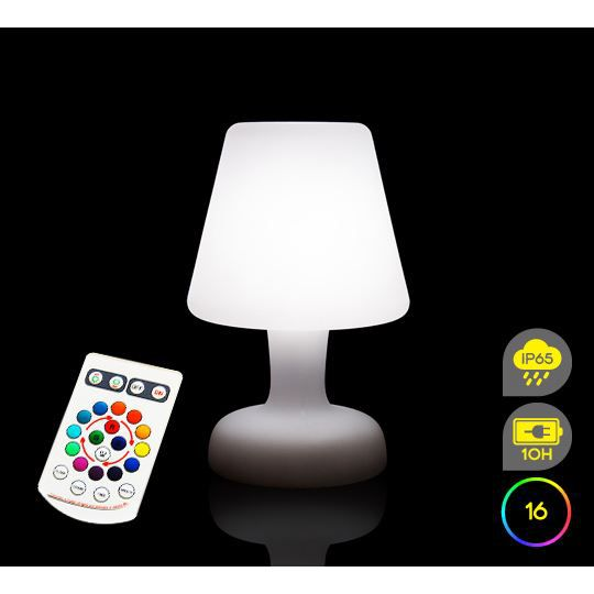 lampe de table sans fil led 16 couleurs achat vente d coration lumineuse lampe de table sans. Black Bedroom Furniture Sets. Home Design Ideas