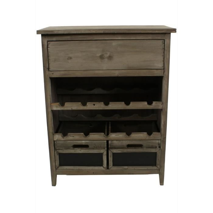 meuble bas rangement vins bois 3 tiroirs 61x33x achat. Black Bedroom Furniture Sets. Home Design Ideas