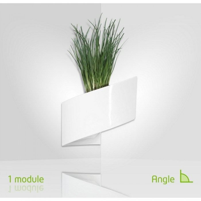 modul 39 green pot pour plantes mural design int rieur ext rieur blanc achat vente. Black Bedroom Furniture Sets. Home Design Ideas