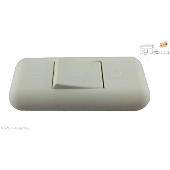 Adapte Pour DEL 2 Ficelle-entre Interrupteur Blanc avec zugentlastungen 3 broches 6 A