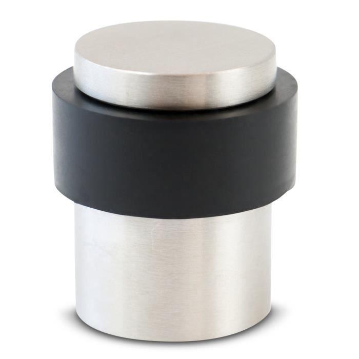 caoutchouc cale de porte en acier inoxydable 13 x 5 x 3,5 cm 1 arr/êt de porte