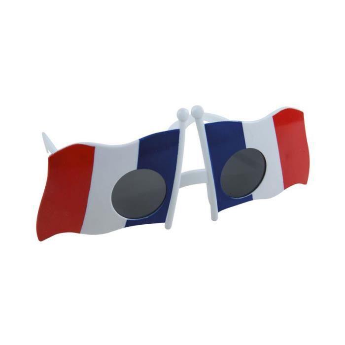ACCESSOIRE DÉGUISEMENT Lunettes Plastique Supporter Drapeaux