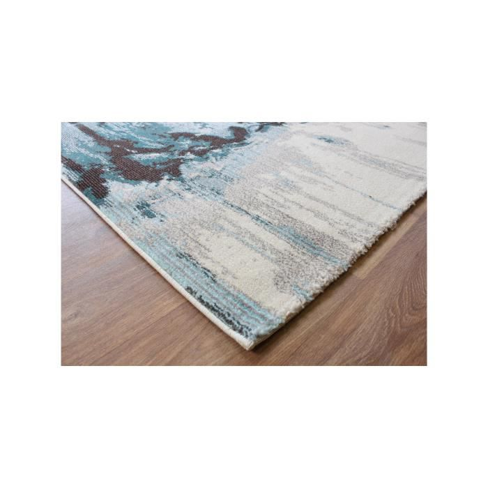 benuta tapis colores bleu 80x150 cm achat vente tapis cdiscount. Black Bedroom Furniture Sets. Home Design Ideas