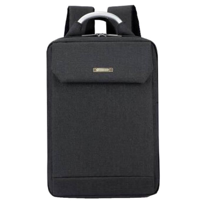 Simple Style Laptop Backpack Business Backpack Sac Voyage pour Homme Noir