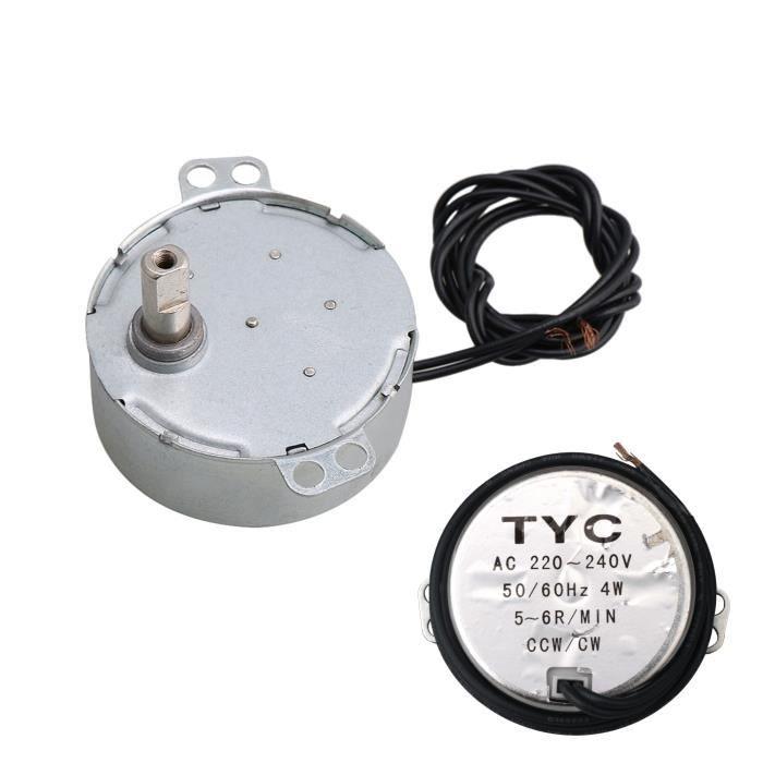CHANCAC Moteur synchrone AC220V TYC-50 15-18RPM CW//CCW 4W Puissance Moteur /à Courant Alternatif