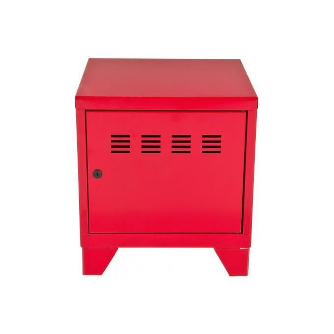 mini commode rouge en m tal laura achat vente petit meuble rangement mini commode rouge en. Black Bedroom Furniture Sets. Home Design Ideas