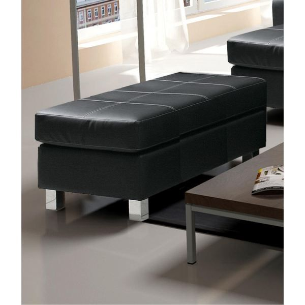 pouf noir simili cuir maison design. Black Bedroom Furniture Sets. Home Design Ideas
