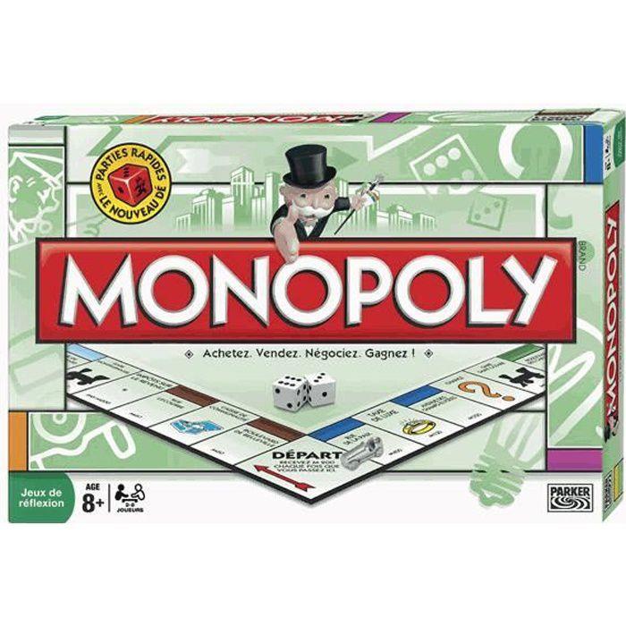 JEU SOCIÉTÉ - PLATEAU Ancienne Version Monopoly Classique
