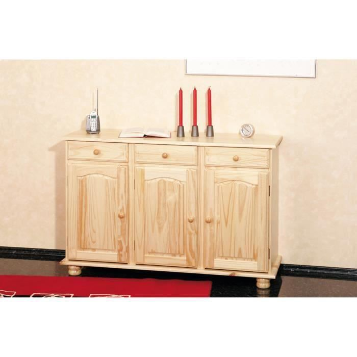 buffet abaco commode bahut meuble bois massif vernis. Black Bedroom Furniture Sets. Home Design Ideas