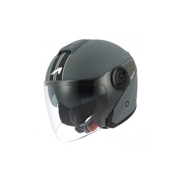 Casque Moto Jet Astone Dj10 2 Graphic Lines Matt Dark M Gris