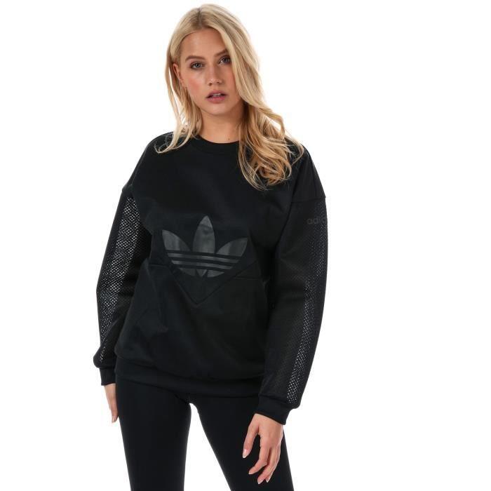 Sweatshirt adidas Originals CLRDO Crew pour femme en noir