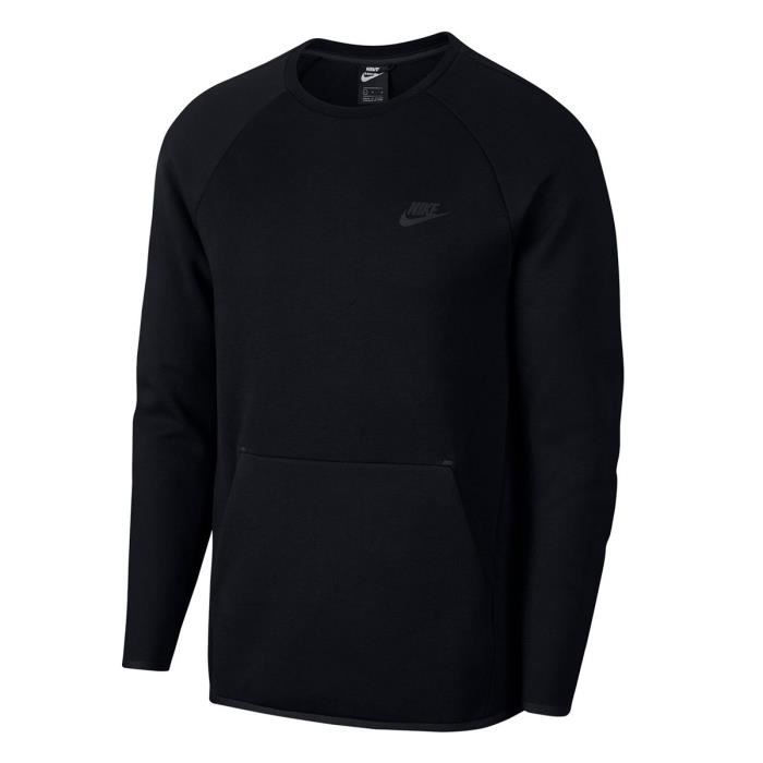 Sweat Nike Sportswear Tech Fleece - 928471-010 Noir Noir - Achat ... def900236973
