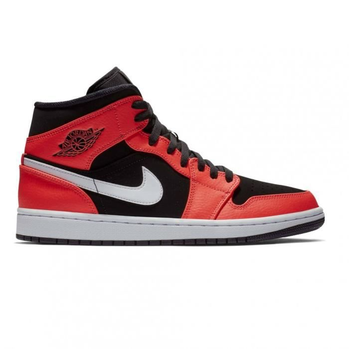 low priced 52407 7ee9f Basket Mode Nike Air Jordan 1 Mid Rouge
