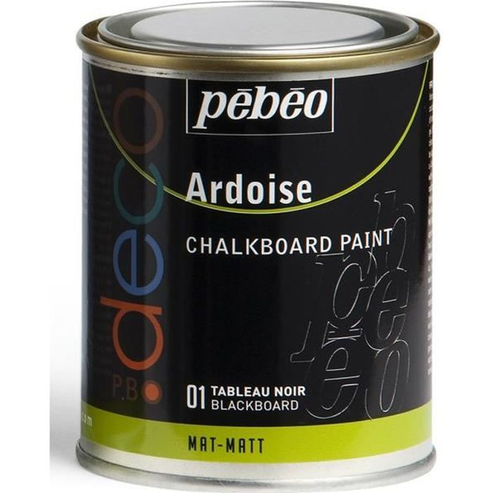 pebeo d co peinture ardoise noir 250 ml achat vente autres peintures pebeo d co peinture. Black Bedroom Furniture Sets. Home Design Ideas