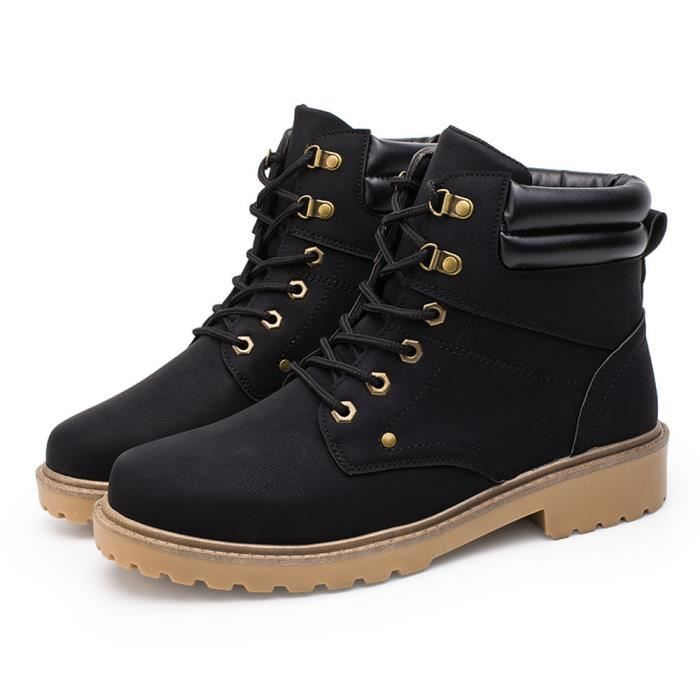 Hommes Low cheville garniture plate cheville automne hiver bottes occasionnels Martin chaussures@hyu-266