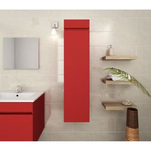 COLONNE - ARMOIRE SDB LUNA Colonne de salle de bain L 25 cm - Rouge mat