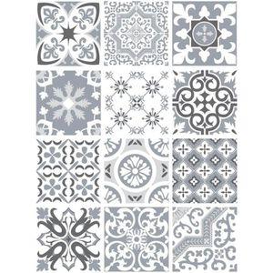 STICKERS Sticker Carrelage - Carreaux de Ciment - GREYPASTE
