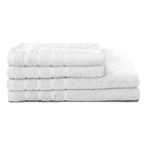 SERVIETTES DE BAIN Lot de 6 serviettes de bain 50x90 blanc