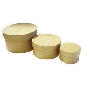 Support à décorer 3 Boites rondes gigognes