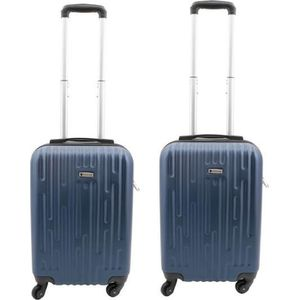SET DE VALISES Lot de 2 valises cabines rigides ultra-légères en