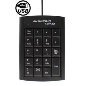 CLAVIER D'ORDINATEUR Pave Numerique - Mini clavier numérique USB avec 1