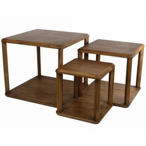 TABLE BASSE Lot de 3 Tables Basses Consoles Guéridons Desserte