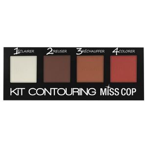 FARD A JOUE - BLUSH Miss Cop Kit Contouring 4 Couleurs