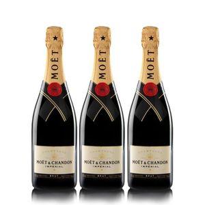 CHAMPAGNE Lot 3 Champagnes Moët & Chandon Brut Moët Imperial
