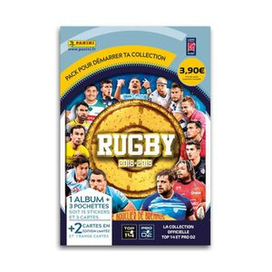 CARTE A COLLECTIONNER PANINI RUGBY 2018-2019 Album + 3 pochettes + 2 car