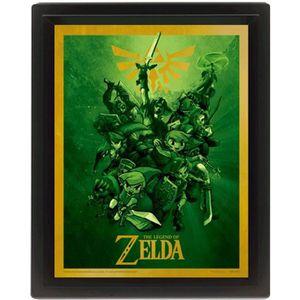 CADRE PHOTO Cadre 3D Lenticulaire The Legend of Zelda Link