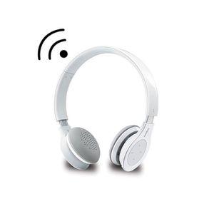 CASQUE AVEC MICROPHONE Rapoo casque micro sans fil blanc