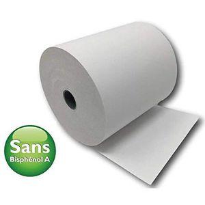 Lot de 8 bo/îtes de 160 rouleaux de papier thermique sans BPA 80 x 70 cm