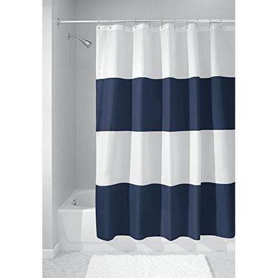 100/% tissu polyester uni lavable Rideau de Douche 12 Crochets 180*180