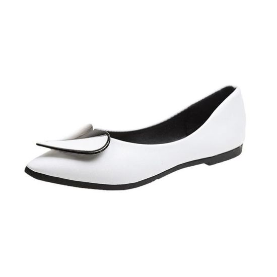 Femmes Appartements Flats Coeur Confortable Chaussures Doux Slip-On Chaussures Occasionnels Bateau simple   XMM80406533WH blanc Blanc Blanc - Achat / Vente slip-on