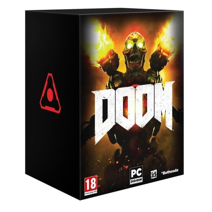 doom edition collector jeu pc achat vente jeu pc doom edition collector pc soldes cdiscount. Black Bedroom Furniture Sets. Home Design Ideas