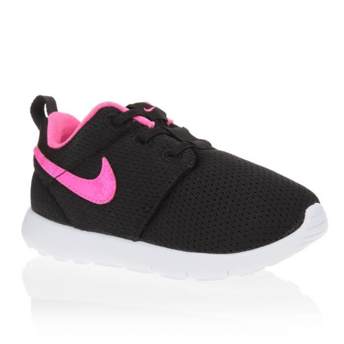 nike baskets roshe one tdv chaussures b b fille noir et rose achat vente basket cdiscount. Black Bedroom Furniture Sets. Home Design Ideas